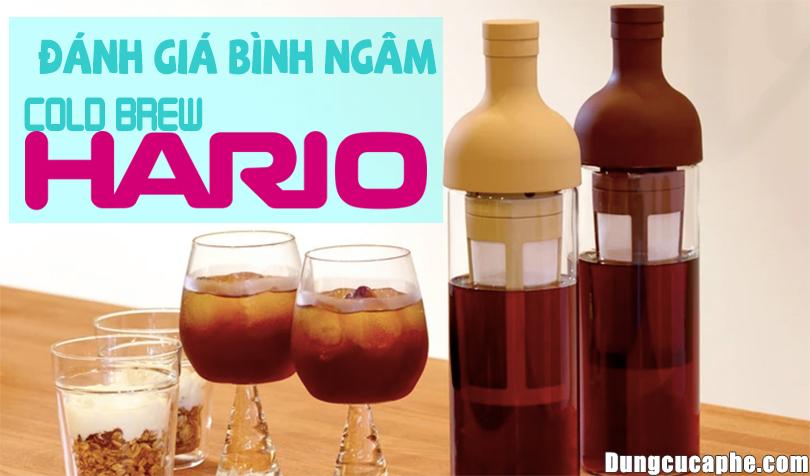 Đánh giá bình ngâm Cold Brew Hario FIC-70 CBR Chai ủ cà phê lạnh tốt nhất.