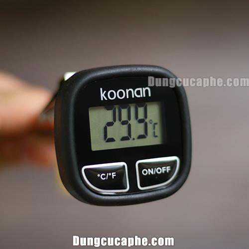 Đồng hồ điện tử đo nhiệt độ thời gian thực Koonan