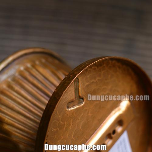 Độ dày chắc chắn của lớp đồng trên phễu lọc cà phê Hammer 101 copper