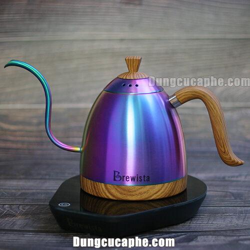 Ấm đun rót cafe cổ ngỗng có kiểm soát nhiệt độ Brewista Artisan 600ml – Màu ánh kim