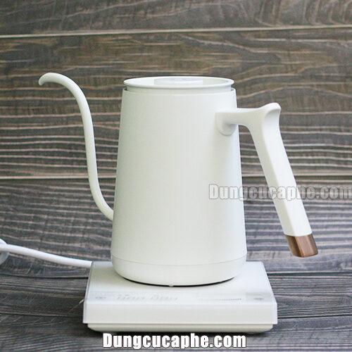 Ấm đun tùy chỉnh nhiệt độ pha cà phê Timemore Smart Mini 600ml White
