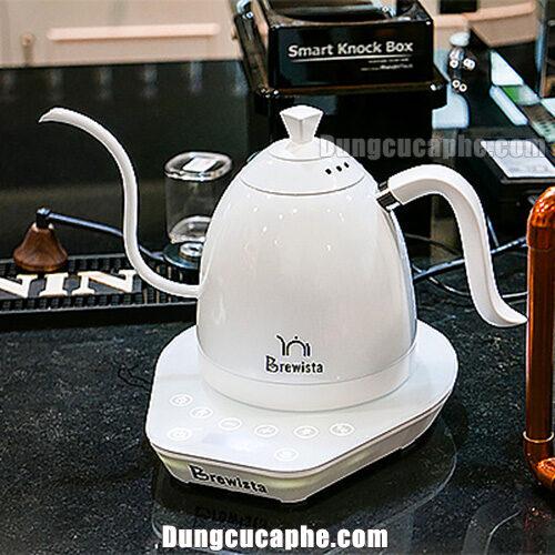Ấm đun và rót cà phê Drip 0,6L kiểm soát nhiệt độ Brewista Artisan – Full White