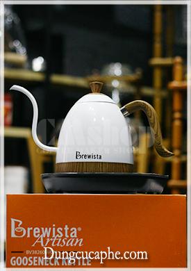 Ấm đun và rót nước cổ ngỗng 0,6L xét nhiệt độ thực Brewista Artisan - Màu Trắng.