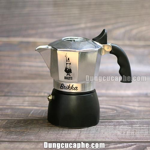 Ấm pha cà phê Espresso Bialetti Moka Pot Brikka có van tăng áp