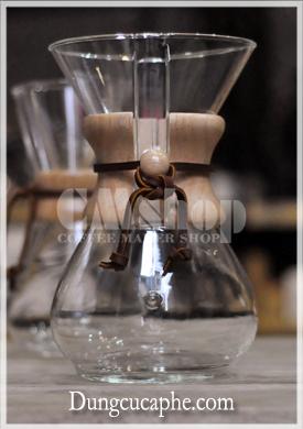 Ấm pha cà phê thủy tinh Chemex 6 cup lớn