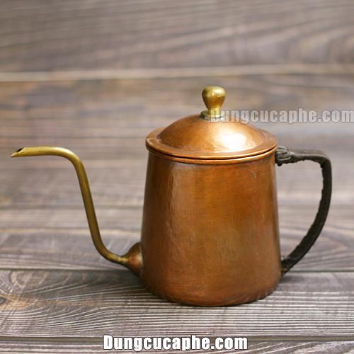 Ấm rót cà phê 600ml thủ công bằng đồng S600 Hammer Hàn Quốc