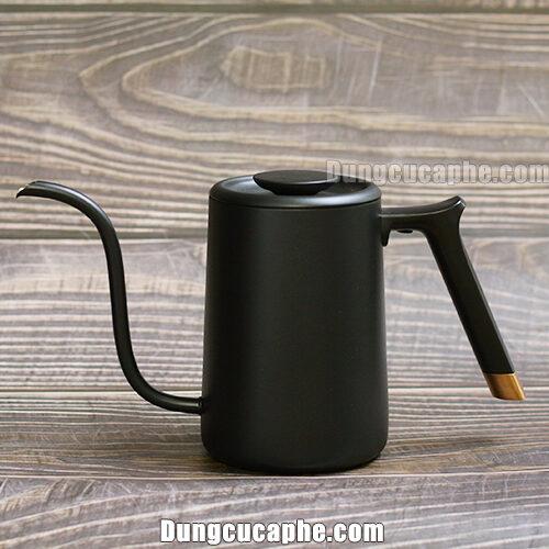 Ấm rót cà phê Fish Pure Timemore 700ml Black với vòi rót được cấp bằng sáng chế