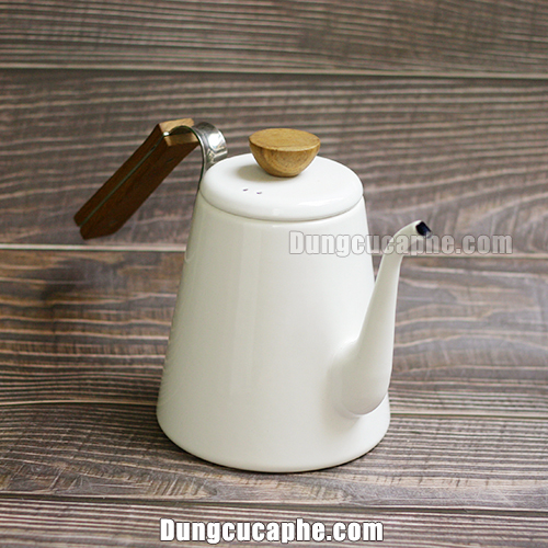 Ấm rót cà phê Pour Over Hario Bona trắng 1400ml BKD-80