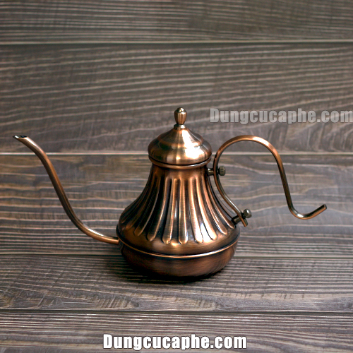 Ấm rót cà phê pour over mạ đồng vintage 650ml giá rẻ