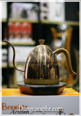 Ấm rót cổ ngỗng 600ml Brewista có kèm bếp đun pha cà phê - Màu Rose Gold