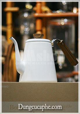 Ấm rót drip cà phê và trà Hario V60 Bona men Trắng 1400ml BDK-80