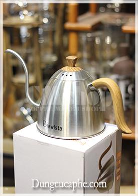 Ấm rót drip coffee chuyên dụng Brewista vòi cổ ngỗng 700ml màu thép