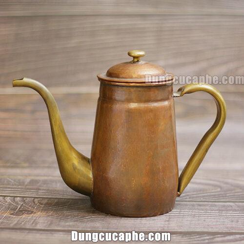 Ấm rót trà và cà phê Hàn Quốc đồng đỏ làm thủ công 800ml Hammer S800