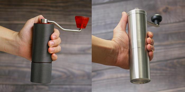 So sánh máy xay tay cafe Timmeore Lite và Porlex