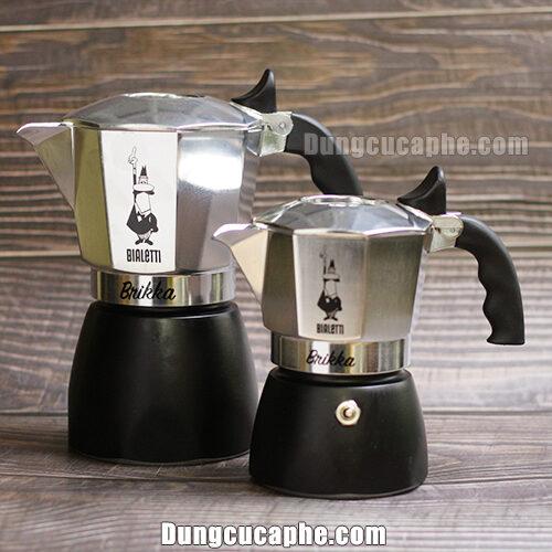 Ấm pha cà phê Moka Brikka 2 cup và Moka Brikka 4 cup