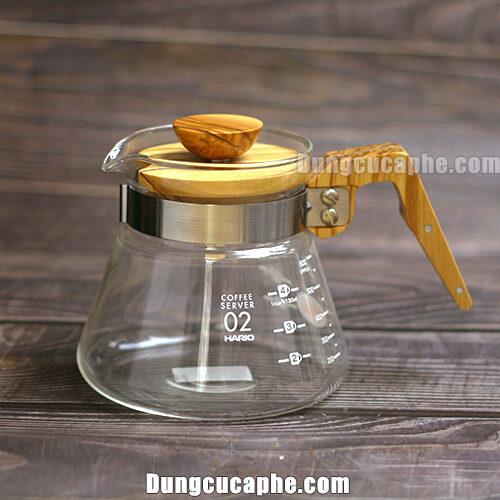 Bình đựng cà phê Hario Olive Wood 600ml