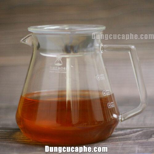Bình đựng cà phê thủy tinh Timemore 600ml