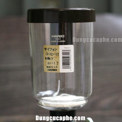 Bình đựng thủy tinh trên của bình pha cafe Syphon 3cup Hario