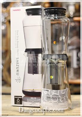 Bình pha cà phê lạnh thủy tinh 600ml Hario Shizuku SBS-5