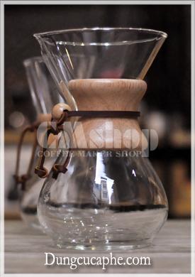 Bình pha cà phê thủy tinh Chemex 6 cup lớn