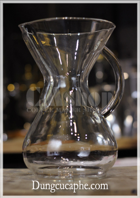 Bình pha cafe 6 cup Glass Handle Chemex 900ml