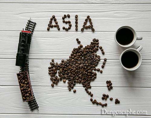 Bản đồ cà phê châu Á