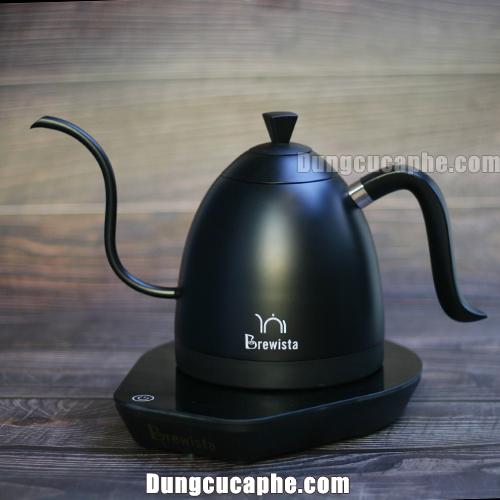 Bếp đun và ấm rót pha cà phê Pour Over 0,6L có thiết lập nhiệt độ Brewista Artisan – Full Black