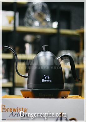 Bếp đun và ấm rót pha cà phê Pour Over 0,6L có thiết lập nhiệt độ Brewista Artisan - Full Black