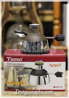 Bếp gas mini Tiamo HG2716 chuyên dụng pha syphon, rang cà phê mẫu