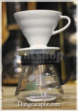 Bộ đôi Phễu lọc cà phê và bình đựng sever Hario