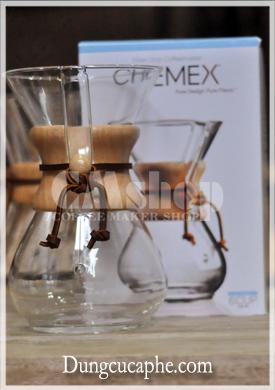 Bộ bình pha cà phê thủy tinh Chemex 6 cup