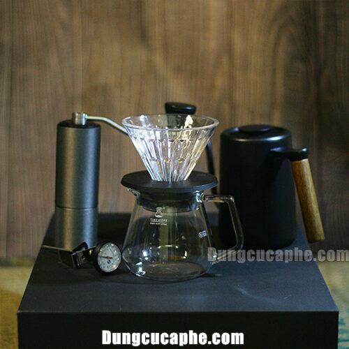 Bộ pha cà phê Drip Timemore C2 Black với đầy đủ các phụ kiện