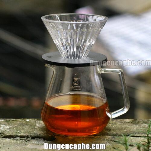 Bộ pha cà phê Drip Timemore gồm bình đựng và phễu lọc