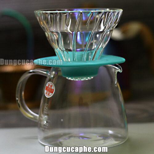 Bộ pha cà phê Drip cá nhân V60 Hario 360ml màu ngọc lam VGS-3512-TC – Made in Japan