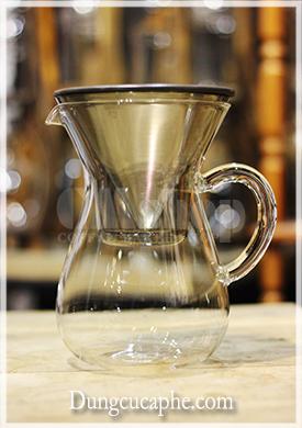 Bộ pha cà phê Pour Over phễu lọc kim loại Kinto 4 cup - Japan