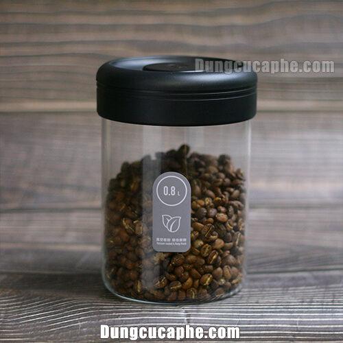 Bình đựng cà phê bảo quản Timemore 800ml van hút chân không