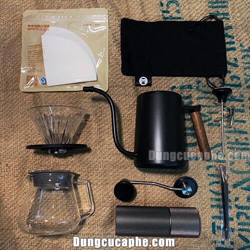 Các bộ phụ kiện trọng set pha cà phê Pour Over Timemore Lite C2 Black