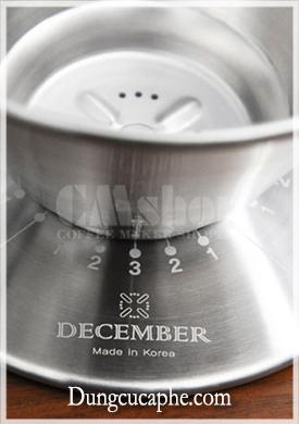 Cách mức điều chỉnh phễu lọc December được sản xuất ở Hàn Quốc