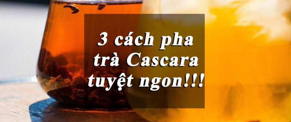 Cách pha trà Cascara tuyệt ngon