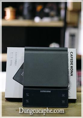 Cân điện tử có đèn LED tích hợp đồng hồ bấm giờ CAFEDE KONA CK5700