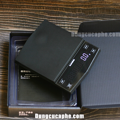 Cân điện tử sạc pin pha cà phê giá rẻ Sanbei màn hình LED siêu sáng