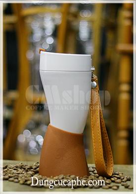 Cốc giữ nhiệt cà phê 300ml hình sừng dê chuyên dụng mang đi du lịch