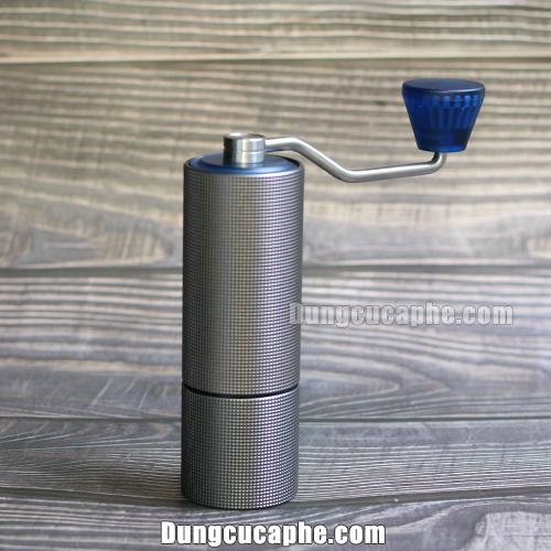 Cối nghiền cà phê bằng tay đĩa thép giá rẻ Timemore Lite Blue