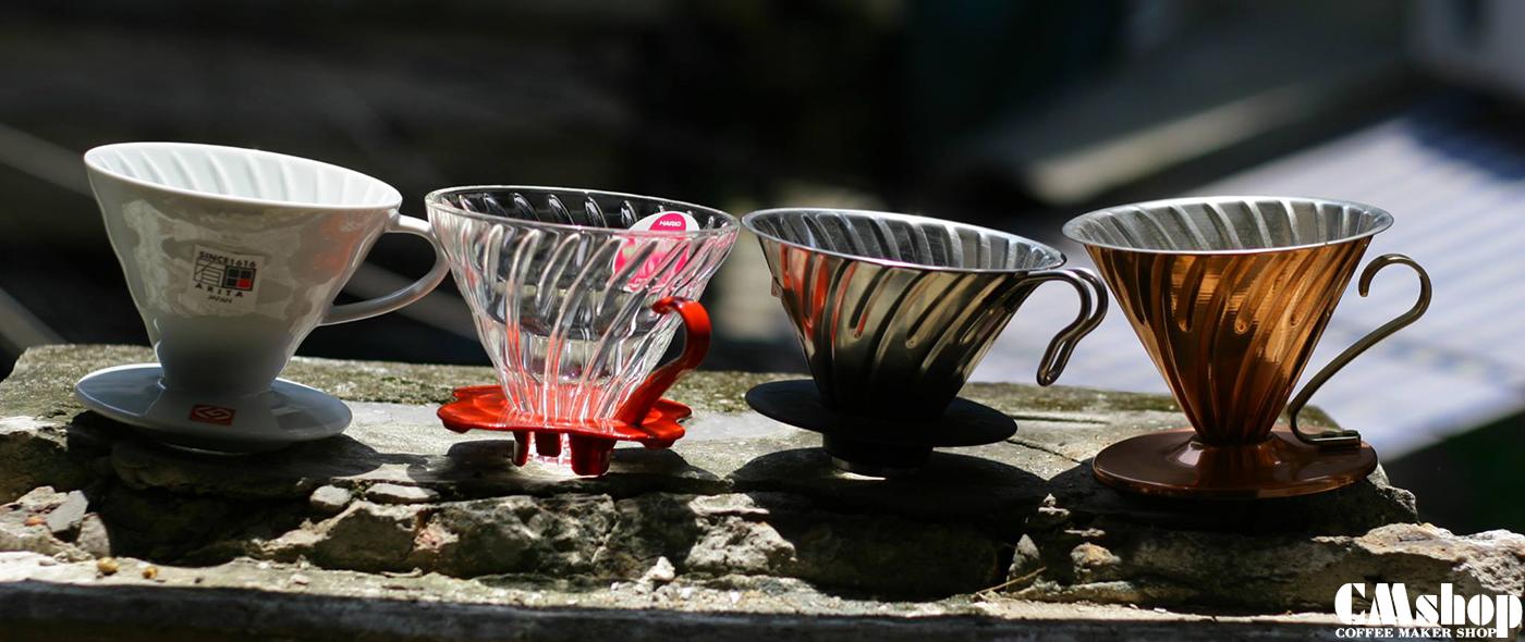 Chất liệu phễu lọc cà phê Drip ảnh hưởng như nào đến chiết xuất