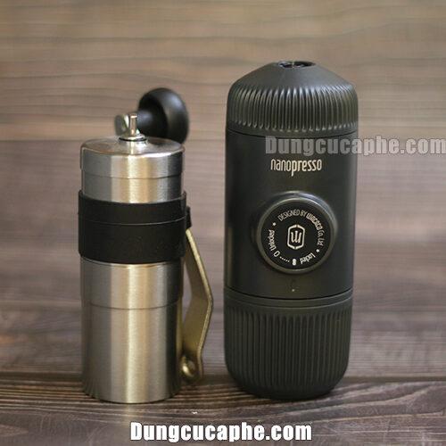 Combo dụng cụ cà phê du lịch 02 Máy xay tay Porlex Mini + Nanopresso