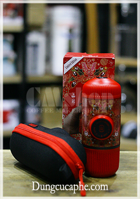 Dụng cụ nén Espresso bằng tay Wacaco Nanopresso Limidted RED TATTOO PIXIE