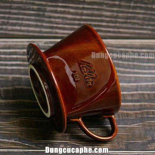 Góc nghiêng phễu lọc cà phê Kalita 101