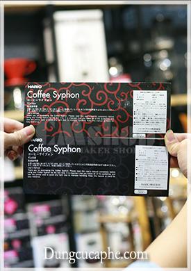 Giấy hướng dẫn sử dụng của Syphon chính hãng màu đen thiết kế đẹp mắt