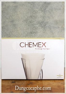 Giấy lọc cà phê Chemex 3 cup dạng nửa hình tròn-Chemex bonded filters half circles