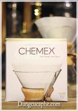 Giấy lọc cà phê Chemex 6 cup dạng hình tròn (Chemex bonded filters Pre-folded Circles)